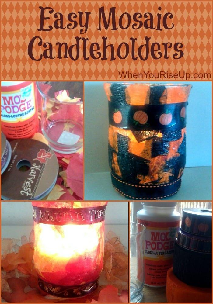 Mosaic Candleholders
