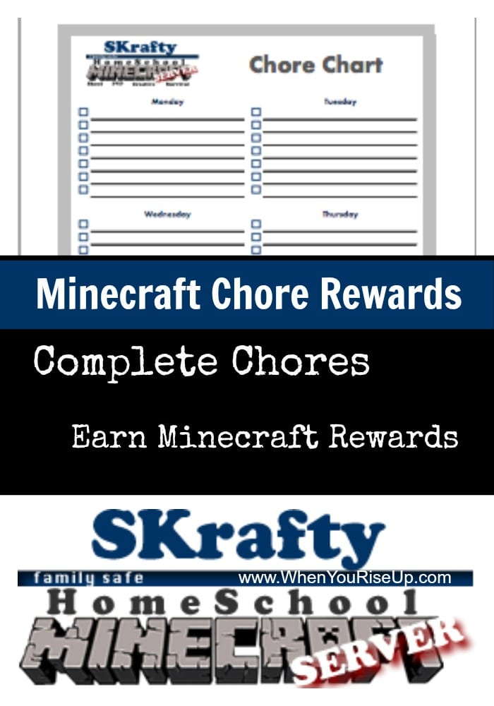 Minecraft Chore Rewards