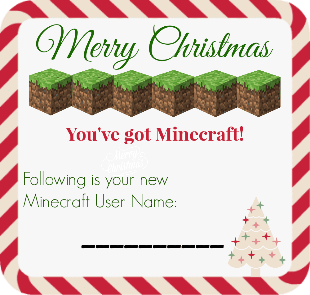 Merry christmas gift certificate templates images templates printable minecraft account gift certificate skrafty click here to download the printable minecraft account gift certificate alramifo Choice Image