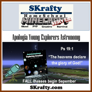 Apologia Astronomy Minecraft Class