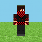 Black & Red Checker Minecraft Skin