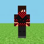Black & Red Checker Minecraft Skin