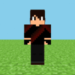 Black & Red Gamer Minecraft Skin