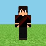 Black & Red Gamer Minecraft Skin
