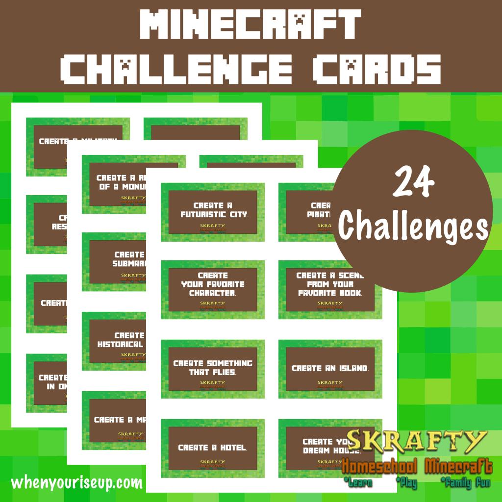 MinecraftChallengeCardspreview