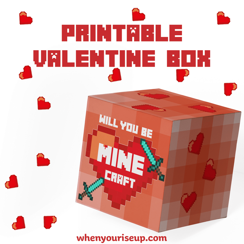 graphic about Minecraft Printable Valentines identified as Cost-free Printable Minecraft Valentine Box As well as No cost Minecraft