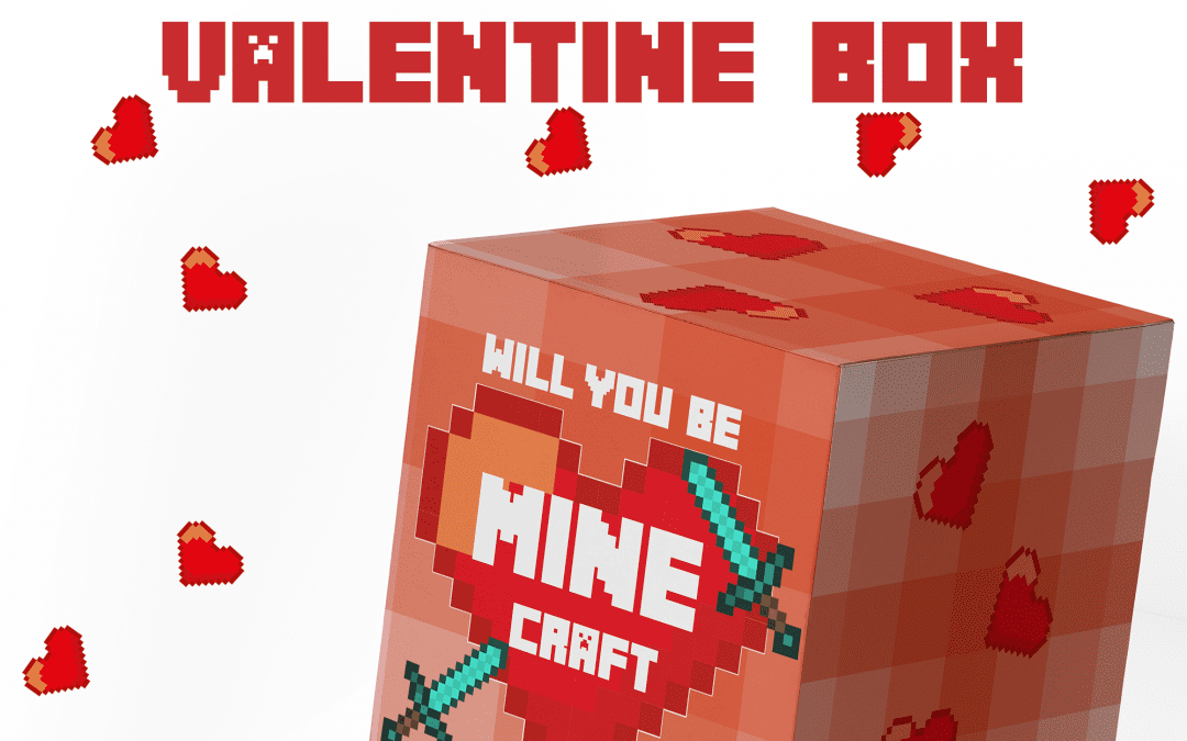 Free Printable Minecraft Valentine Box PLUS Free Minecraft Printable Valentines
