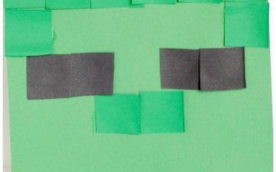 Minecraft-Inspired Zombie Collage Craft