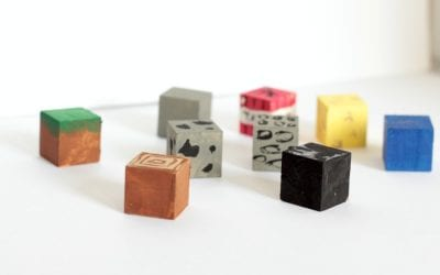 DIY Minecraft Painted Blocks