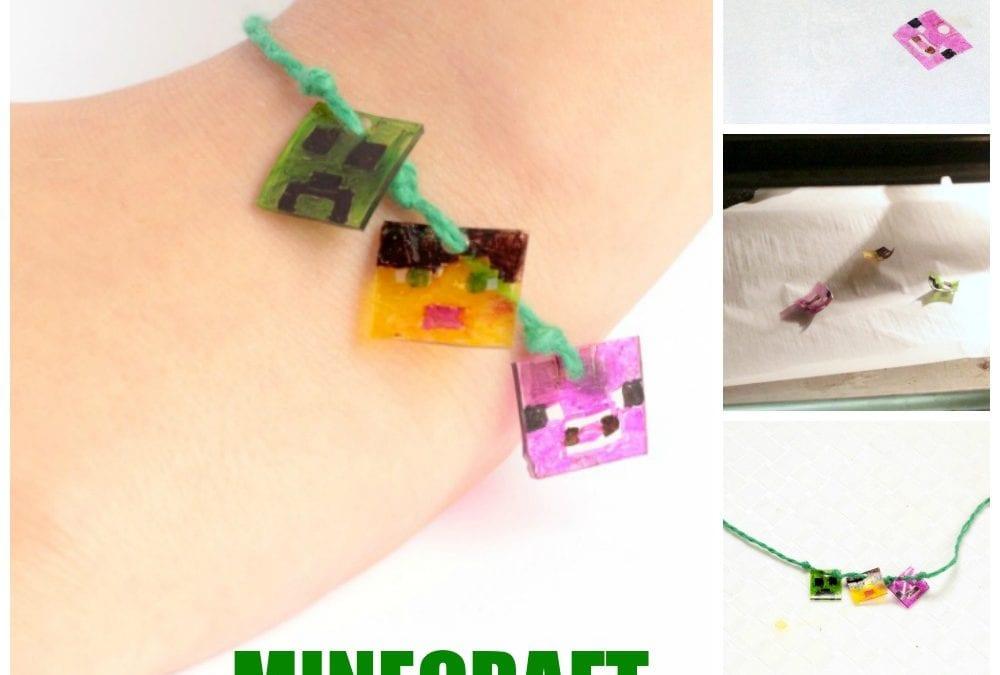 Minecraft-Inspired Shrink Plastic Charm Bracelet