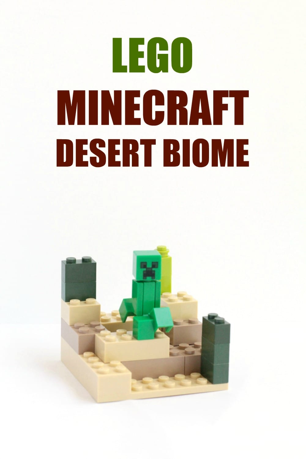 Minecraft-Inspired LEGO Desert Biome
