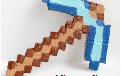 Minecraft-Inspired Cardboard Pickaxe