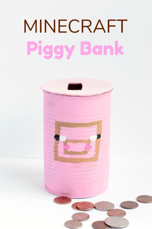 Minecraft piggy bank skrafty for Make a piggy bank craft