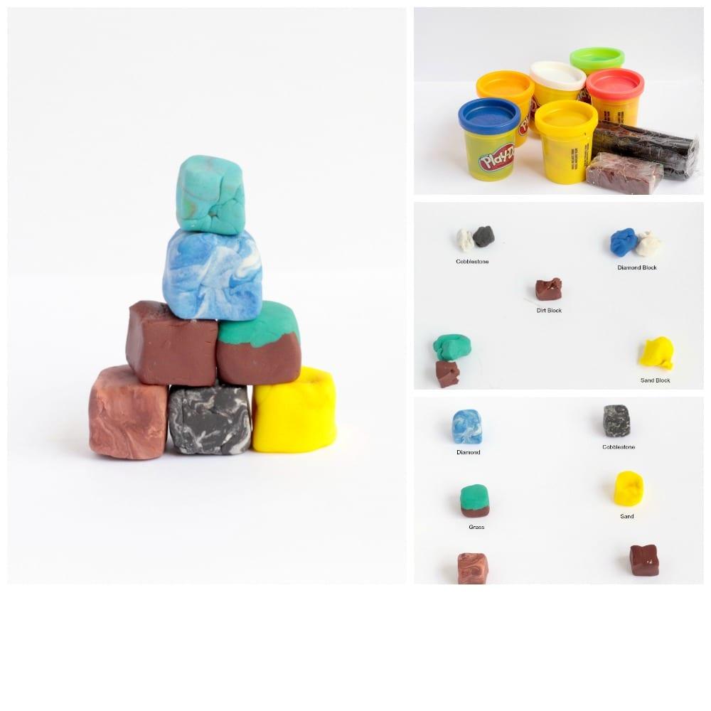 Minecraft-Inspired Playdough Blocks | SKrafty