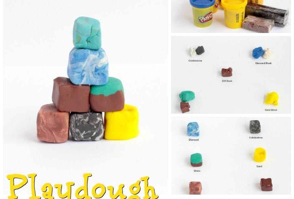Minecraft-Inspired Playdough Blocks