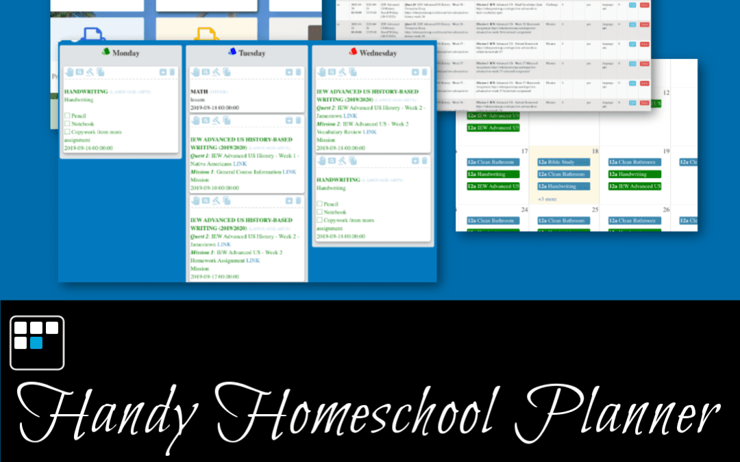 Announcing The Handy Homeschool Planner Online